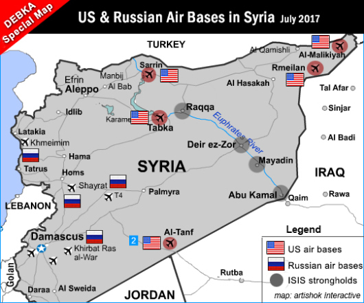 Map Of Germany Us Air Force Bases.New Us Air Facility In E Syria Fifth In Chain Of Air Bases Debkafile